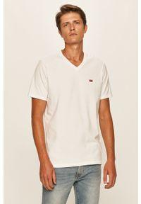 Biały t-shirt Levi's® z aplikacjami, na co dzień, casualowy