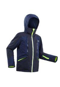 WEDZE - Kurtka narciarska dla dzieci Wedze 900. Kolor: niebieski. Materiał: materiał. Sport: narciarstwo
