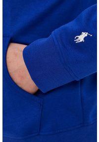 Polo Ralph Lauren - Bluza. Okazja: na co dzień. Typ kołnierza: polo. Kolor: niebieski. Wzór: nadruk. Styl: casual