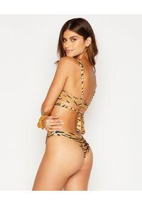 BEACH BUNNY - Dół od bikini Sydney. Kolor: brązowy. Materiał: materiał