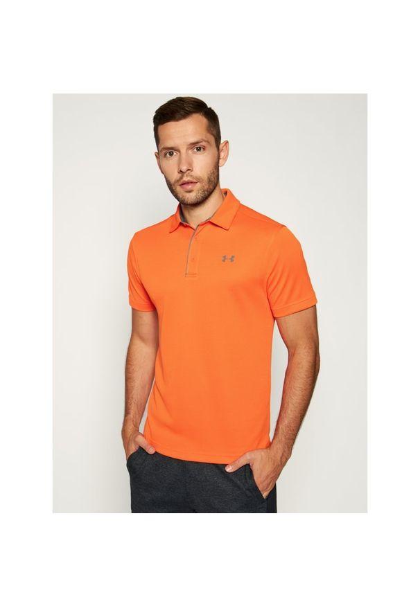 Pomarańczowa koszulka sportowa Under Armour polo