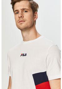 Biały t-shirt Fila casualowy, na co dzień