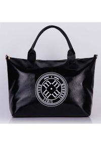 Torebka damska Monnari shopper połyskująca czarna. Kolor: czarny. Rozmiar: duże. Styl: klasyczny, elegancki. Rodzaj torebki: na ramię