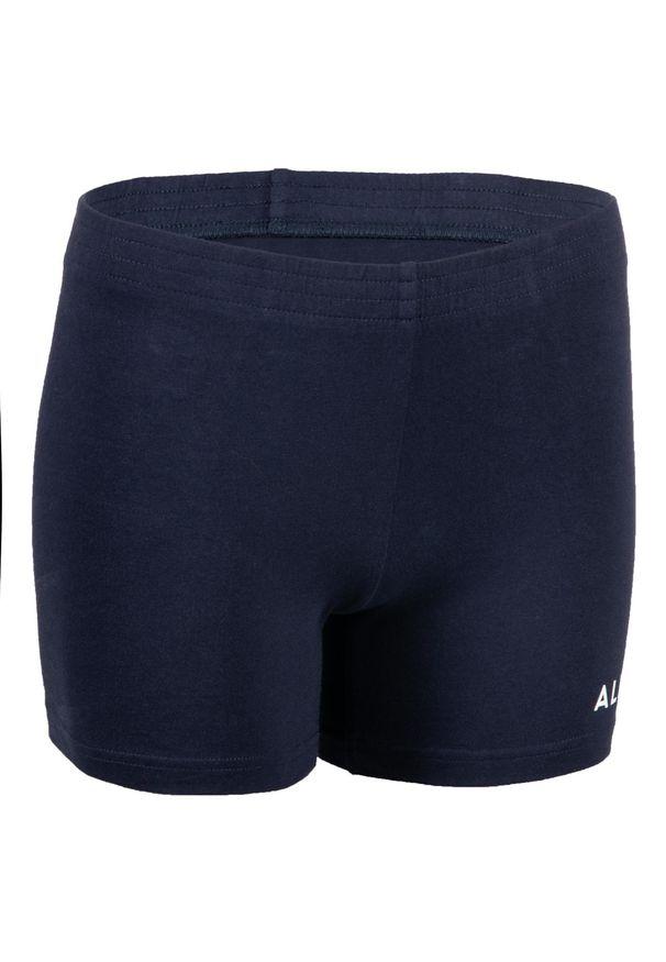 ALLSIX - Spodenki siatkarskie dla dziewczynek Allsix V100 granatowe. Kolor: niebieski. Materiał: elastan, bawełna, materiał. Sport: siatkówka