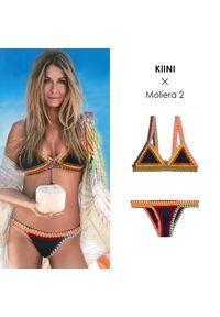 KIINI - Top od bikini Tasmin. Kolor: niebieski. Materiał: bawełna, poliester, tkanina, materiał. Wzór: kolorowy
