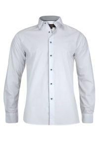 Biała elegancka koszula Jurel na spotkanie biznesowe, długa