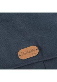 Przedłużana czapka bawełniana dla dzieci PaMaMi - Jeansowy. Materiał: bawełna, elastan. Sezon: wiosna
