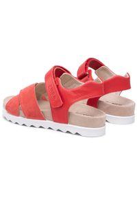 Primigi - Sandały PRIMIGI - 7395111 S Red. Kolor: czerwony. Materiał: skóra, zamsz