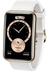 HUAWEI - Smartwatch Huawei Fit Elegant Biały (55026333). Rodzaj zegarka: smartwatch. Kolor: biały