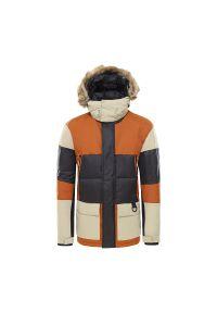 Wielokolorowa kurtka The North Face długa, na zimę