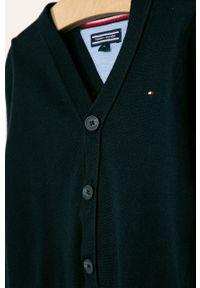 Niebieski sweter TOMMY HILFIGER na co dzień, casualowy