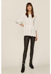 Biała koszula medicine casualowa, gładkie, ze stójką