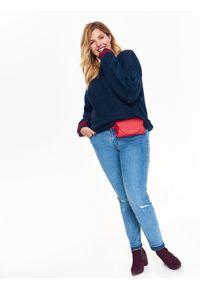 Niebieski sweter TOP SECRET casualowy, na jesień, na co dzień