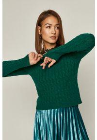 Miętowy sweter medicine z długim rękawem, casualowy