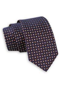 Krawat Angelo di Monti w grochy, elegancki
