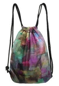 Plecak damski worek Badura T_D085MU_CD. Materiał: materiał. Wzór: nadruk, aplikacja. Styl: casual