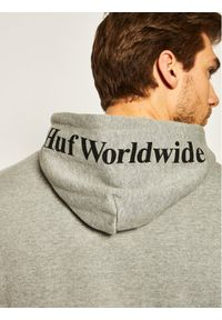 HUF Bluza Essentials Box Logo PF00098 Szary Regular Fit. Kolor: szary