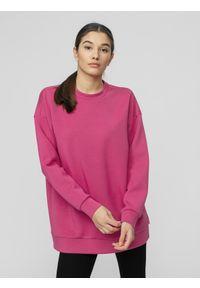 Różowa bluza nierozpinana 4f casualowa, na co dzień