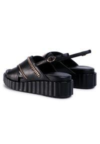 Czarne sandały Bruno Premi z aplikacjami, casualowe