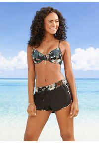 """Szorty plażowe bonprix czarny """"paisley"""". Okazja: na plażę. Kolor: czarny. Wzór: paisley"""