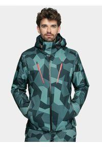 4f - Kurtka narciarska męska. Typ kołnierza: kaptur. Kolor: wielokolorowy. Materiał: mesh, materiał, poliester. Sezon: zima. Sport: narciarstwo