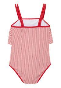 Czerwony strój kąpielowy bonprix w paski