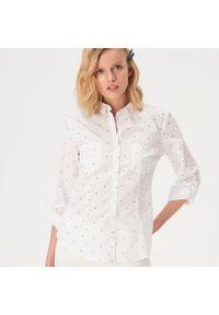 Biała koszula Sinsay w kropki