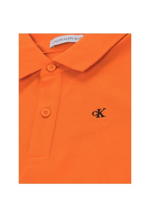 Pomarańczowy t-shirt polo Calvin Klein Jeans polo