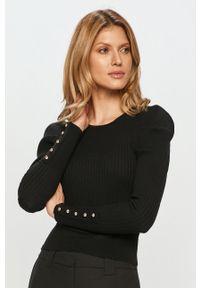 Silvian Heach - Sweter. Kolor: czarny. Materiał: dzianina. Długość rękawa: długi rękaw. Długość: długie