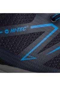 Niebieskie buty trekkingowe Hi-tec z cholewką