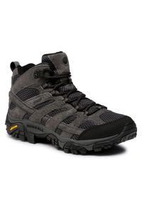 Szare buty trekkingowe Merrell trekkingowe, Gore-Tex, z cholewką