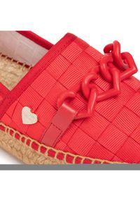 Czerwone espadryle Love Moschino