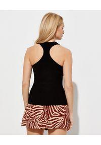 ZIMMERMANN - Czarny top na ramiączkach. Okazja: na co dzień. Kolor: czarny. Materiał: bawełna. Długość rękawa: na ramiączkach. Styl: elegancki, sportowy, casual