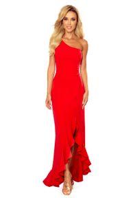 Sukienka wieczorowa Numoco maxi, asymetryczna