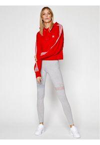 Adidas - adidas Legginsy adicolor Tricolor GN2958 Szary Tight Fit. Kolor: szary