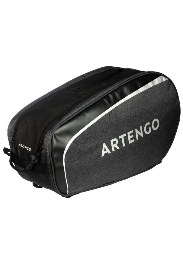 ARTENGO - TORBA SPORTOWA tenis 100 S. Kolor: czarny. Materiał: poliester, materiał. Sport: tenis
