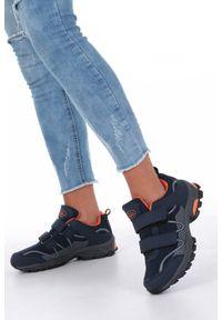 Niebieskie buty sportowe Casu na co dzień, na rzepy