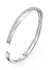 Srebrna bransoletka Swarovski z aplikacjami, z kryształem, metalowa