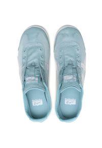 Niebieskie buty sportowe Onitsuka Tiger bez zapięcia, z cholewką