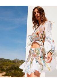 CHARO RUIZ IBIZA - Krótka spódnica w kwiaty Rada. Kolor: biały. Materiał: bawełna. Długość: krótkie. Wzór: kwiaty