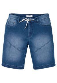 "Bermudy dżinsowe ze stretchem Regular Fit bonprix niebieski ""bleached"". Kolor: niebieski"