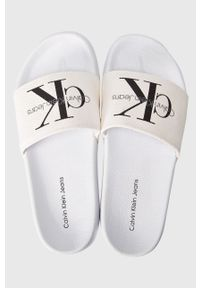 Calvin Klein Jeans - Klapki Viggo Heavy Canvas. Kolor: biały
