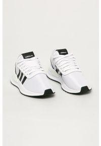 Białe buty sportowe adidas Originals z cholewką, na sznurówki