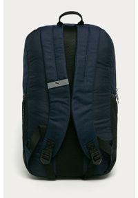 Niebieski plecak Puma z aplikacjami