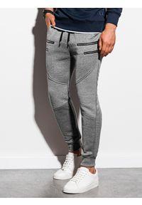 Szare spodnie Ombre Clothing melanż