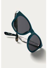 Niebieskie okulary przeciwsłoneczne Vans gładkie
