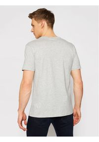 Karl Lagerfeld - KARL LAGERFELD T-Shirt Crewneck 755061 511251 Szary Regular Fit. Typ kołnierza: dekolt w karo. Kolor: szary