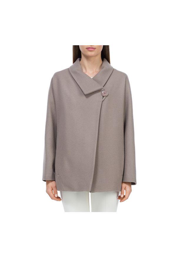 Beżowy płaszcz Wittchen krótki, elegancki