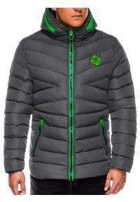 Szara kurtka Ombre Clothing na zimę