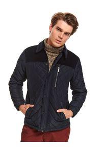 Niebieska kurtka TOP SECRET z aplikacjami, na zimę